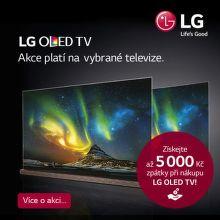 Cashback až 5 000 Kč na OLED TV LG