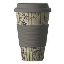 Eco Bamboo Cup Panda ekologický termo hrnek (400 ml)