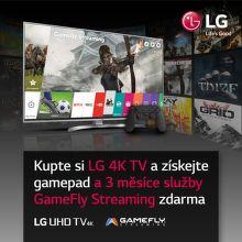 Gamepad a služba GameFly Streaming k LG 4K TV jako dárek