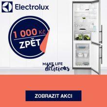 1 000 Kč zpět při nákupu NoFrost chladniček Electrolux