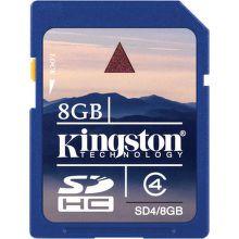 Kingston 8GB SDHC Class 4, SD4/8GB - paměťová karta