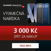 Cashback 3 000 Kč na Huawei Mate 10 Pro