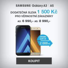 Sleva 1 500 Kč na Samsung Galaxy A3 nebo A5 pro Věrnostní zákazníky