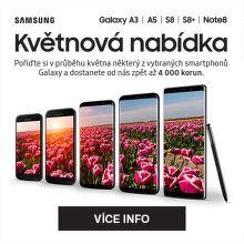 Cashback až 4 000 Kč na vybrané mobily Samsung Galaxy
