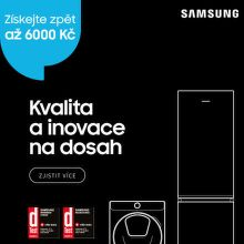 Cashback až 6 000 Kč na chladničky a pračky Samsung