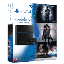 Sony PlayStation 4 1TB (černý) + Megapack, PS719829355