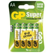 GP B13218 - AA tužkové baterie 6+2 ks