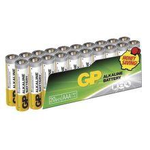 GP Alkaline AAA (LR03), 20ks