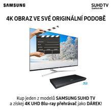 K SUHD televizi Samsung UHD Blu-ray přehrávač jako dárek