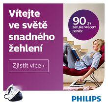 Záruka vrácení peněz 90 dní na žehličky Philips