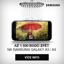 Až 1 500 bodů zpět na Samsung Galaxy A3 a A5