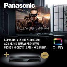 Blu-ray přehrávač jako dárek k vybraným TV Panasonic