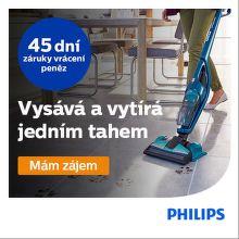 Záruka vrácení peněz na tyčové vysavače Philips