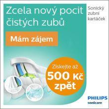 Cashback až 500 Kč na zubní kartáčky Philips Sonicare
