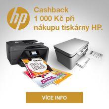 Cashback až 1 000 Kč na tiskárny HP