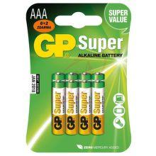GP B13118 - AAA tužkové baterie 6+2ks