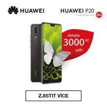 Cashback 3 000 Kč na Huawei P20