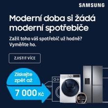 Cashback až 7 000 Kč na pračky nebo chladničky Samsung