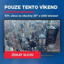 """Sleva 10 % na 55"""" a větší televize"""