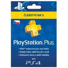 Sony PlayStation Plus Card 90 dní - předplatné pro PS3 a PS4