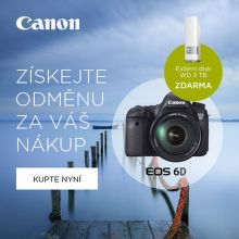 K zrcadlovce Canon 6D externí disk 3TB