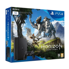 Sony PlayStation 4 1TB Slim (černá) + hra Horizon Zero Dawn