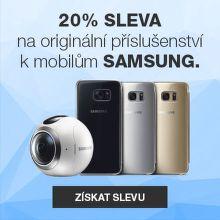 20% sleva na originální příslušenství Samsung