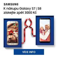 Cashback 3 000 Kč na Samsung Galaxy S7 a S8
