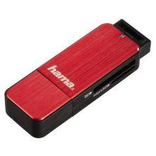 123902 HAMA Čtečka karet USB 3.0 SD/microSD, červená