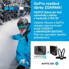 Dárky ke GoPro HERO5 Black v hodnotě 2 150 Kč