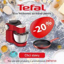 Sleva 20 % na výrobky pro přípravu jídla Tefal