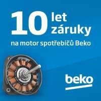 10 let záruka na motor spotřebičů Beko