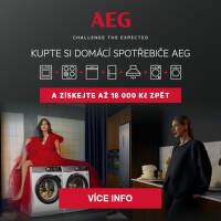 Cashback až 18 000 Kč na domácí spotřebiče AEG