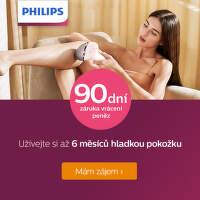 Záruka vrácení peněz na IPL epilátory Philips Lumea