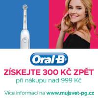 Cashback 300 Kč na zubní kartáčky Oral B