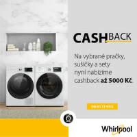 Cashback až 5 000 Kč na pračky a sušičky Whirlpool