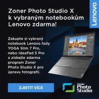 Zoner photo Studio X k vybraným notebookům Lenovo