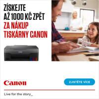 Cashback až 1 000 Kč na vybrané tiskárny Canon