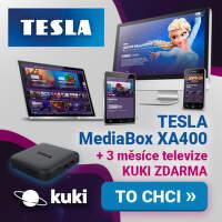 Kuki na 3 měsíce zdarma k Tesla MediaBox XA400