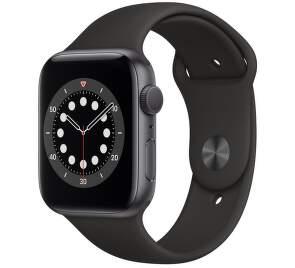 Apple Watch Series 6 44mm vesmírné šedý hliník s černým sportovním řemínkem-1