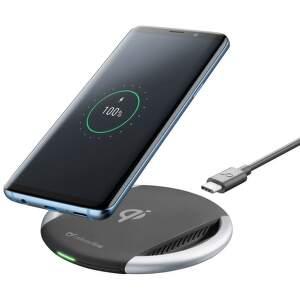 Cellularline bezdrátová nabíječka s rychlým nabíjením, černá