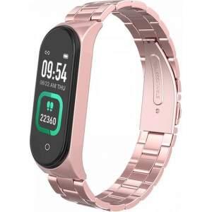 Smartomat Sunset 4 Pro s růžovo-zlatým kovovým řemínkem