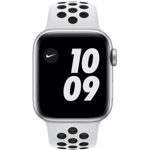 Apple Watch Nike Series 6 GPS + Cellular 40 mm stříbrný hliník s černým sportovním řemínkem