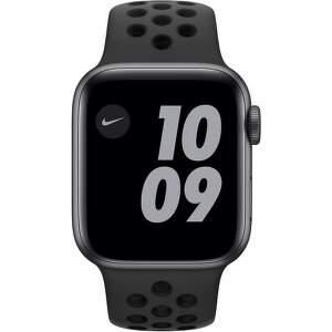 Apple Watch Nike Series 6 GPS + Cellular 40 mm vesmírné šedý hliník s černým sportovním řemínkem