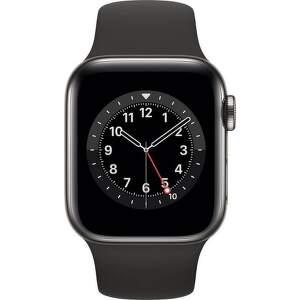Apple Watch Series 6 GPS + Cellular 40 mm vesmírné šedý hliník s černým sportovním řemínkem