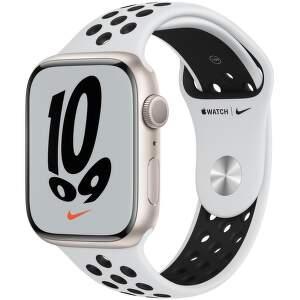 apple-watch-nike-series-7-gps-45-mm-hvezdne-bily-hlinik-s-platinove-cernym-nike-sportovnim-reminkem