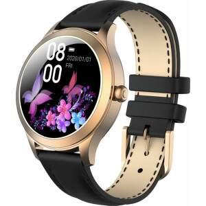 Armodd Candywatch Premium 2 zlaté s čiernym koženým remienkom