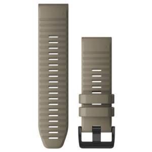 Garmin QuickFit 26mm silikonový řemínek pro Fénix 6X, šedá