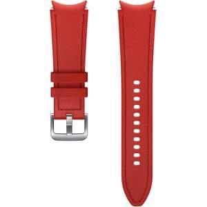 Samsung hybridní kožený řemínek pro Galaxy Watch4 Classic 46 mm M/L červený