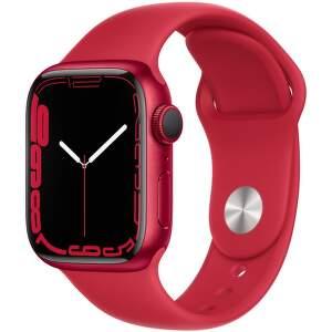 Apple Watch Series 7 GPS 41 mm (PRODUCT)RED hliník s (PRODUCT)RED sportovním řemínkem